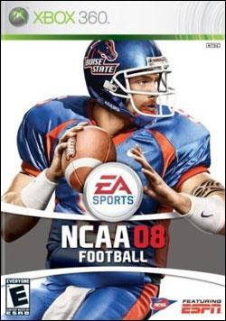 NCAA Football 08 (Xbox 360) by Electronic Arts Box Art