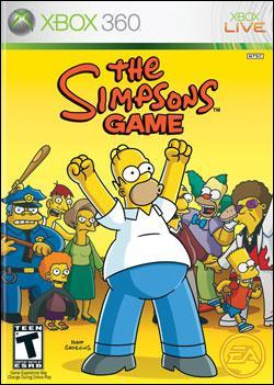 Simpsons Game, The (Xbox 360) by Electronic Arts Box Art