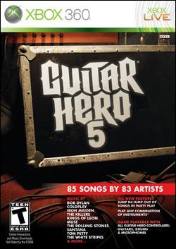Guitar Hero 5 (Xbox 360) by Activision Box Art