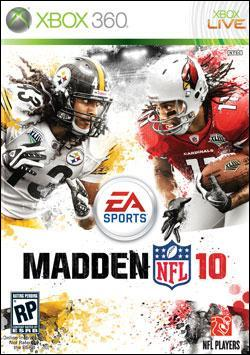 Madden NFL 10 (Xbox 360) by Electronic Arts Box Art