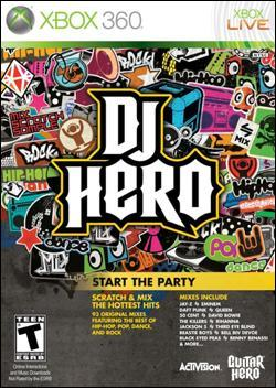 DJ Hero (Xbox 360) by Activision Box Art