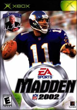 Madden NFL 2002 (Xbox) by Electronic Arts Box Art