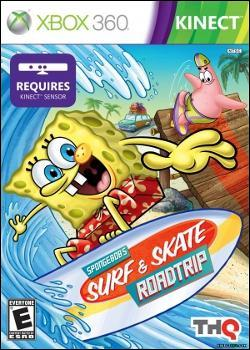 SpongeBob's Surf & Skate Roadtrip (Xbox 360) by THQ Box Art