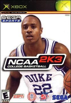NCAA College Basketball 2K3 (Xbox) by Sega Box Art