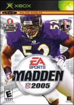 Madden NFL 2005 (Xbox) by Electronic Arts Box Art