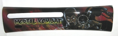 This faceplate was made by a Mortal Kombat fan, using an airbrush.