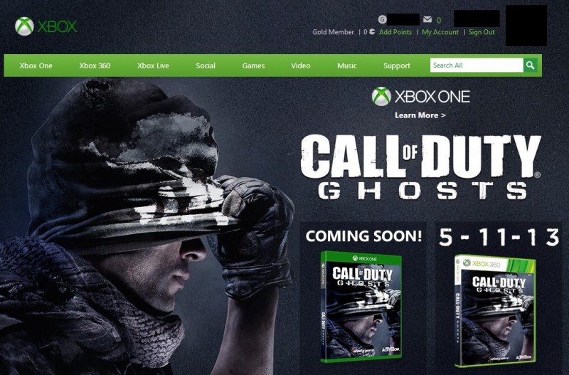 Call Of Duty Ghosts Gives Up The Ghost On On Xbox One Release