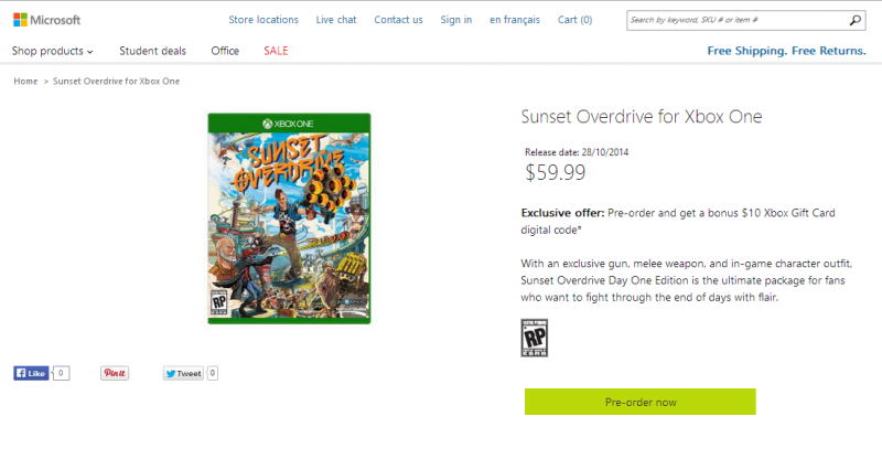 UPDATE: Canadian Microsoft Store cheapest place to pre-order