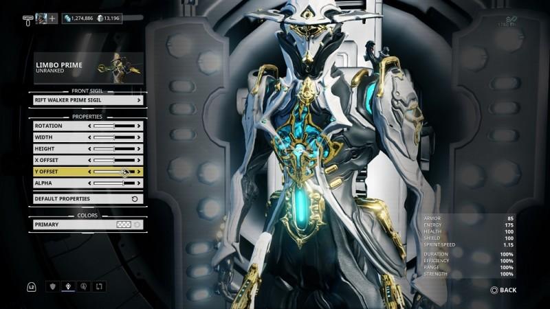 Limbo Prime Added to Warframe - XboxAddict News