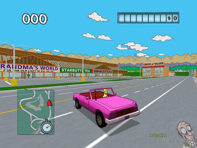 The Simpsons Road Rage (Original Xbox) Game Profile ... on simpsons characters, simpsons itchy and scratchy land, simpsons drugs, simpsons game xbox 360, simpsons police, simpsons canyonero, simpsons bad cops, simpsons driving, simpsons boxing, simpsons violence, simpsons car crash, simpsons sonic, simpsons snake, simpsons detective, simpsons doughnut, simpsons movie, simpsons map, simpsons dragon ball z, simpsons pacman, simpsons house floor plan,